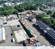 The application site is bounded by the Somervell Trading Estate and vacant industrial land