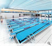 An eight lane 25m pool will be provided