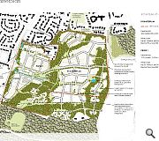 Extensive landscpaing will buffer the suburban expansion from neighbouring estates