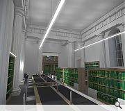 The former Senate Room will be converted to library use