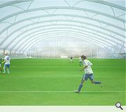 An all weather indoor football pitch sits at the heart of the plan