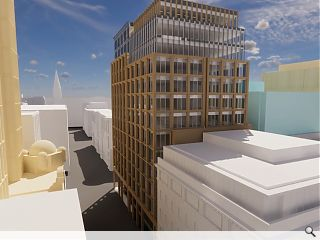 Speculative office building picks up with Glasgow block