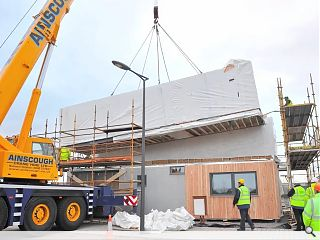 Resource Efficient House takes shape at Ravenscraig