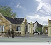 An existing gatehouse will be extended to form a family home