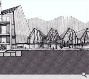 Emily Gibb progressed plans for this boat building workshop, one of a number of schemes to reintroduce industry to the area