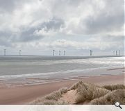 This photomontage gives an indicative view of the wind farm's impact from Menie