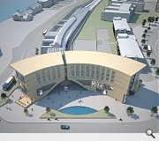 The crescent shaped hotel will better integrate the station into Dundee's revitalised waterfront