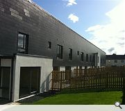 The terrace comprises the first new council housing to be built in perth for 25 years