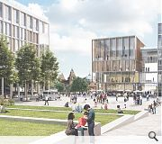 Connections between the university and wider campus will be enhanced