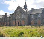 The hospital buildings remain in generally fair condition
