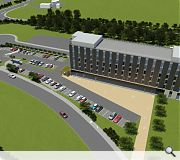 The proposed hotel will be situated on Almond Road