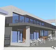 A variety of eateries, including an ice cream parlour, will be housed in the build