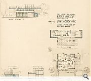 This detailed plan was conceived in the spirit of Le Corbusier's Modulor