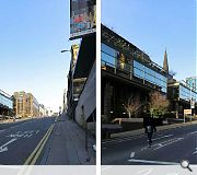 A before and after view looking east along St Vincent Street