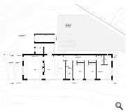 A linear arrangement of open plan living areas and bedrooms is proposed