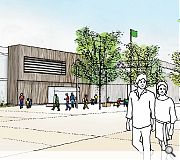 A public square will front the new primary school, which sits at the heart of the master plan