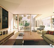 Interior rooms are orientated to make the most of the garden