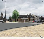 Enlarged pavements and simplified crossings will broaden access