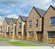A combinaion of flats and terraced houses have been built