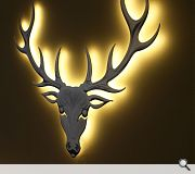 A stags head is a recurring item of branding which runs throughout the centre