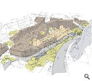A series of green terraces and public spaces will be created