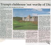 The Times reported a very different story with Andy MacMillan and Malcolm Fraser both giving the clubhouse a drubbing