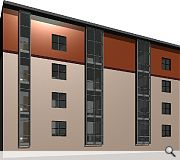 Undercroft parking, bin stores and cycle parking will be provided beneath an interior courtyard