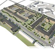 Housing throughout the estate will be unified through use of brick