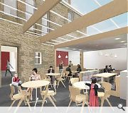 Visitors will benefit from enhanced facilities including this atrium cafe