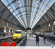 The 1852 train shed, designed by Lewis Cubitt, is 250m long