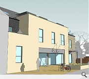 The joint residential build will deliver three ground floor shop units