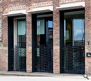 New entrance gates have been fashioned from powder coated galvanised steel by Rachel Duckhouse