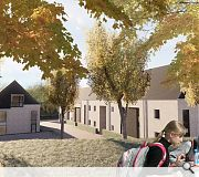 The development will extend towards the Forth & Clyde canal at the rear