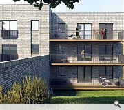 The new homes will include corbel brickwork