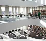 The library houses 15,500 square metres of floor space