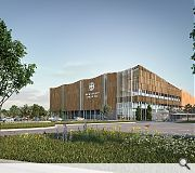 The development is split between a new sports centre and student accommodation