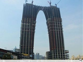 'Gate to the East' skyscraper likened to giant pair of pants