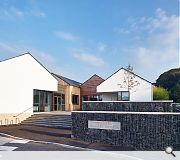 Inspiration was taken from the white harled buildings and gables common to Ayrshire