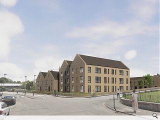 Anderson Bell + Christie pen 22 infill homes for Carnwadric
