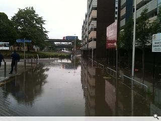 7N Architects Cowcaddens underpass submerged by mains burst