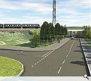 A bus and rail interchange is planned for Auchenback