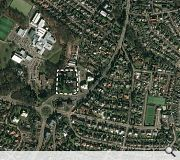 The development sits in an area of Giffnock radically altered by a 1970s road realignment