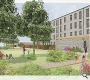 A public community garden forms an integral part of the scheme