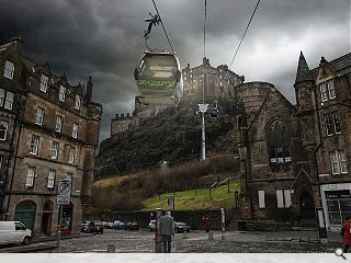 Edinburgh Castle cable car to take passengers for a ride