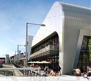A mixture of restaurants, bars and coffee shops will populate the new promenade