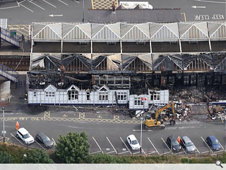 Structural engineers assess fire damaged Troon Station