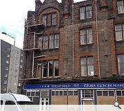 A four storey tenement block also faces demolition