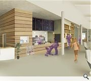 A public library will sit at the heart of the scheme