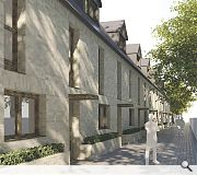 A terrace of mews properties will also be provided