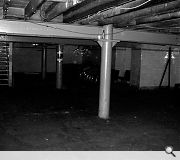 A cream tiled basement space was originally used to pasteurise and bottle milk